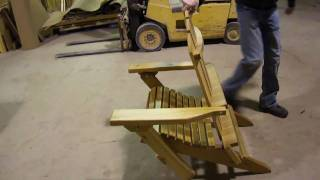 Amish Made Folding Cedar Adirondack Chair By Montana Woodworks
