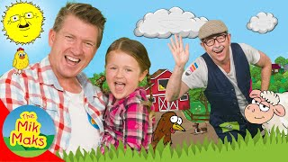 Fun Farming and Farm Animals Song | Kids Songs and Nursery Rhymes | The Mik Maks