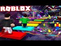 ROBLOX *INSANE* RAINBOW SPEED OBBY RACE vs MY LITTLE BROTHER!