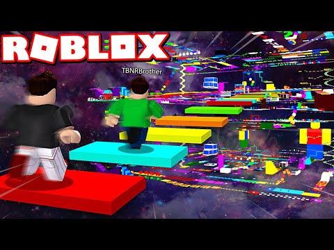 Roblox Insane Rainbow Speed Obby Race Vs My Little Brother