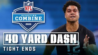 Tight Ends Run the 40-Yard Dash at 2020 NFL Combine: Albert O's BLAZING 4.49