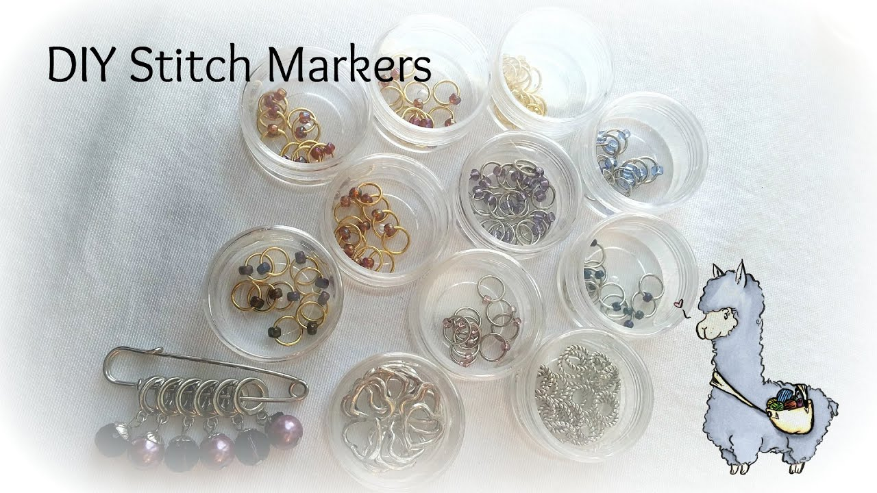 Knitting Markers Diy : Diy stitch markers for knitting youtube