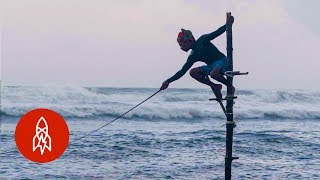 The Last of the Stilt Fishers in Sri Lanka