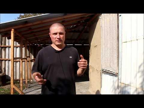 бетонные полы на покрышках - обработка шиферной крыши/Новая Жизнь