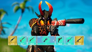 Fortnite Getting All Mythic Weapons and Exotic Weapons In One Game (v17.10)