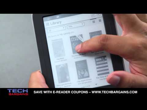 Barnes & Noble Nook Simple Touch With Glowlight E-Reader Video Review (HD)