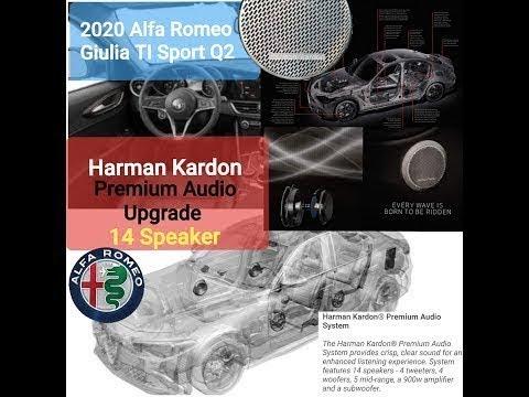 Harman Kardon Premium Audio 14 Speaker Upgrade on the 2020 Alfa Romeo Giulia Ti Sport Q2