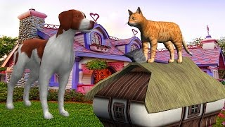 The Dog Says Bow Bow - The Cat Says Meow Meow Song   Animation Animal Nursery Rhymes for Children