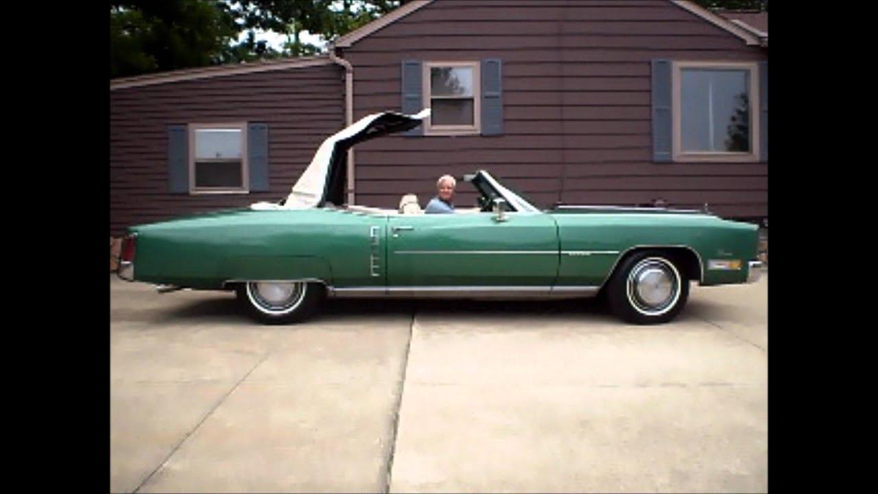 1972 firemist green cadillac eldorado convertible 500 cubic inch 8 2 liter youtube. Black Bedroom Furniture Sets. Home Design Ideas