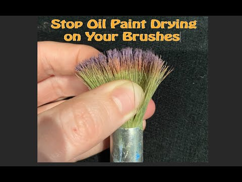 Super Quick Super Tip #4 How to Stop Oil Paint Drying on Your Brushes
