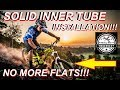 How To Install Solid Tires for Bikes Rubber Inner Tubes Bicycle No-Inflate Never Flat Airless DIY