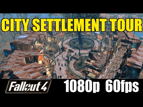 City Settlement Tour - Fallout 4 - Cinematic Let'sPlay - Part 13