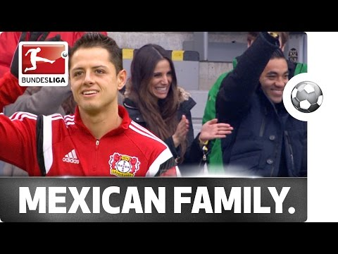 Family & Friends - Chicharito's Girlfriend and Frankfurt's Marco Fabián Cheer On Little Pea