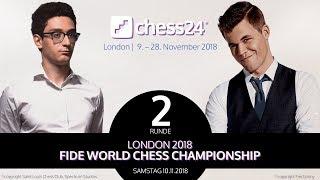 2. Partie - FIDE Schachweltmeisterschaft 2018 - Carlsen-Caruana