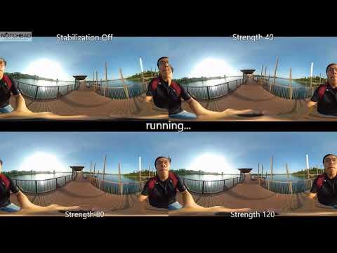 CyberLink PowerDirector 16 Software Stabilization for 360° Videos Strength Comparison Test