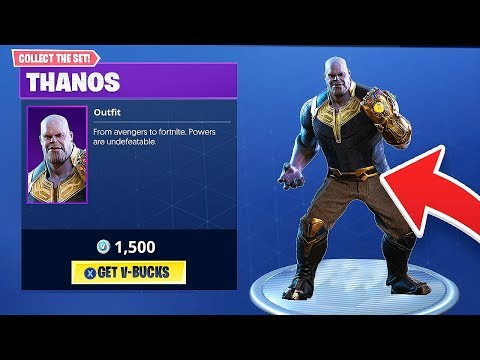 NEW THANOS AVENGERS SKIN AND GAUNTLET COMING TO FORTNITE BATTLE ROYALE!!