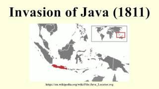 Invasion of Java (1811)