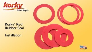 How to install a red rubber seal by Korky