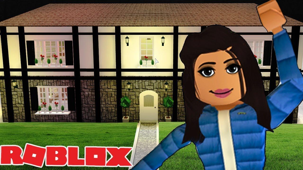 Building My Dream House In Roblox Bloxburg Tudor Cottage