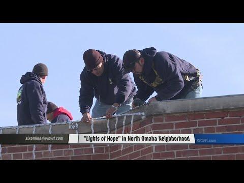 Lights of Hope in North Omaha Neighborhood