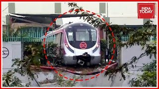 Delhi Metro Train Derails On Magenta Line Route Ahead Of Inauguration