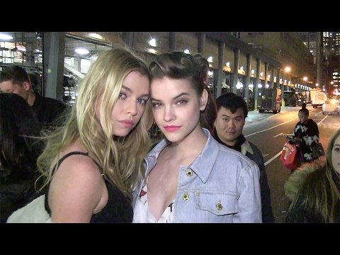 Barbara Palvin and Stella Maxwell leave the Jeremy Scott Fashion Show