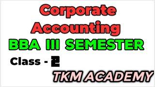 CORPORATE ACCOUNT NG BBA     SEM - CLASS 2