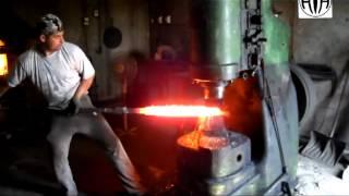 Дамасская сталь. Производство. Основные этапы ковки.(Ковка дамасской стали. Кузница фирмы