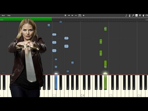 """Emma's Theme"" - Once Upon A Time [Piano Tutorial] (Synthesia)"