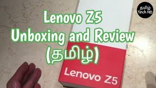 Lenovo Z5 Unboxing and Review in Tamil Tech HD | Smartphone Unboxing Series