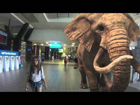 3rockAR Augmented Reality at OR Tambo filmed with TOMTOM