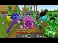 Minecraft UHC but everything drops RANDOM MOBS...