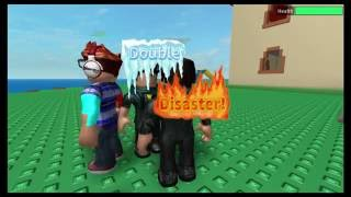 Roblox: Natural Disaster Survival - Happy Home - Double Disaster - Earthquake & Fire