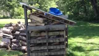 Free Pallet Firewood Bins With Roof