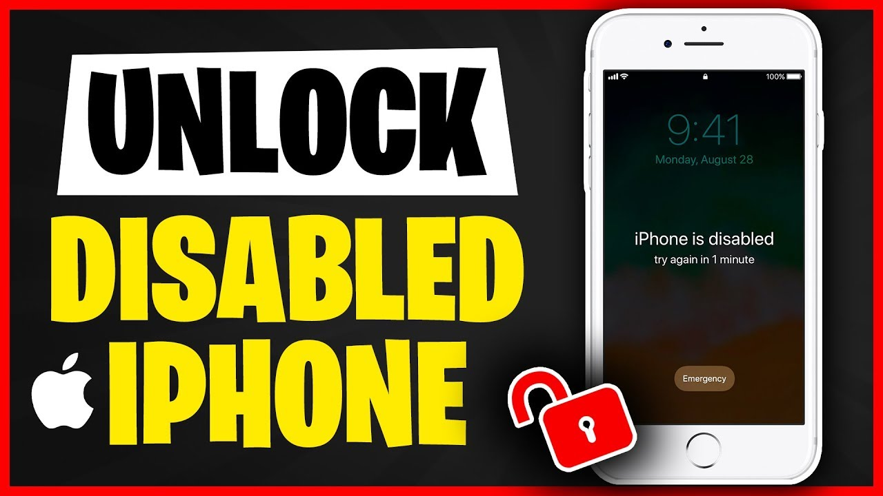 (29 Ways) How to Unlock a Disabled iPhone 29  Unlock iPhone without  Passcode