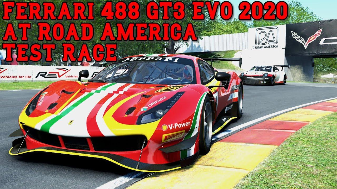 Video: Ferrari 488 GT3 EVO at Road America