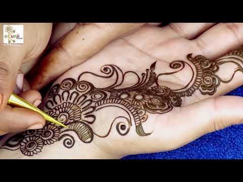 Mehndi Design for Beginners | Easy Mehndi Design For Hands by Sonia Goyal #044