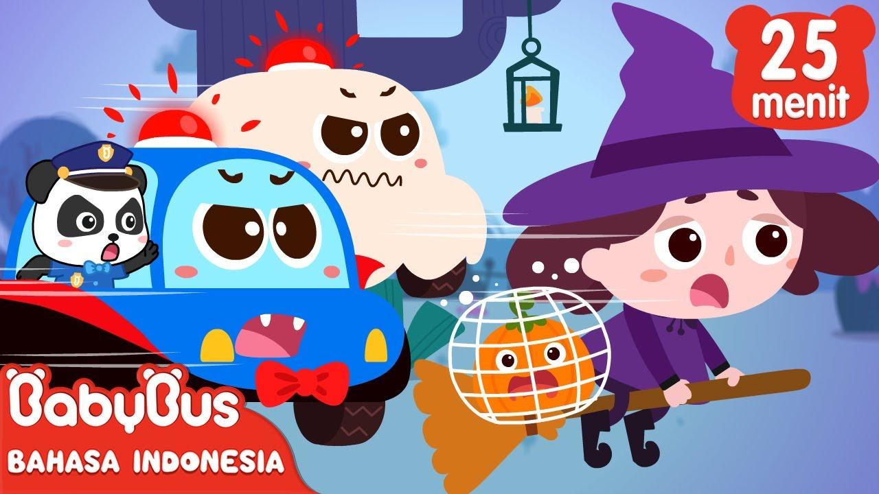 🎃Lima Labu Kecil Lari Dari Rumah Penyihir | Lagu Anak | Lagu Halloween | BabyBus Bahasa Indonesia
