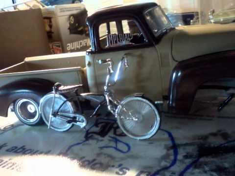 1950 chevy truck lowrider model - YouTube