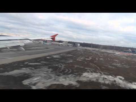 Aeroflot A321 landing at Moscow Sheremetyevo Airport