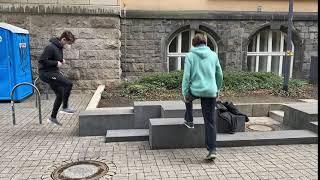 Wechselsprünge Rathaus Rheydt - Muskelkater Rundweg