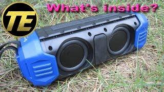 What's inside NewRixing NR-1000 Waterproof Wireless Speaker