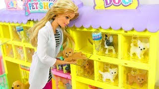 Pet Shop For Barbie Size Dolls Animalerie Jouets Tierhandlung Spielzeug محل الحيوانات الأليفة
