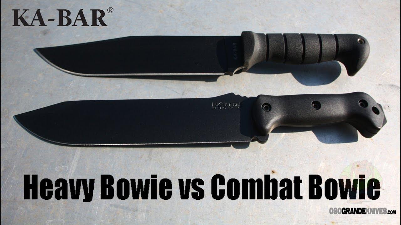 Kabar Heavy Bowie Vs Becker Bk9 Combat Knife Comparison Osograndeknives You