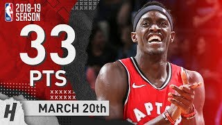 Pascal Siakam Full Highlights Raptors vs Thunder 2019.03.20 - 33 Points, 13 Reb, 6 Ast thumbnail