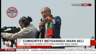 Muharrem İnceden Erdoğana sert sözler Gel erkekçe yarışalım erkekçe