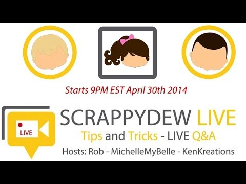ScrappyDew Live - Tracing Images Tips & Tricks