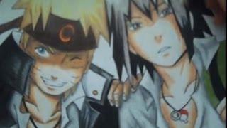 Drawing  naruto and sasuke (khs)