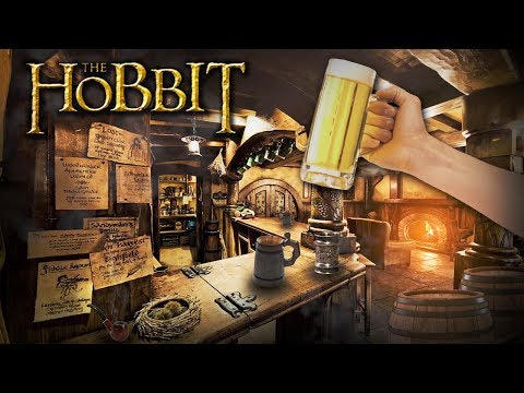 Green Dragon Inn [ASMR] Hobbit Party ◎ Lord of the Rings Ambience ◎ The Shire