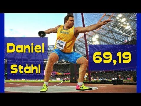 Daniel Ståhl (SWE) 69,19 - diskus - silver - VM i London - 5 aug 2017